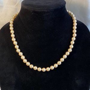 Nice set of Talbots Faux Pearls Great Color & Feel